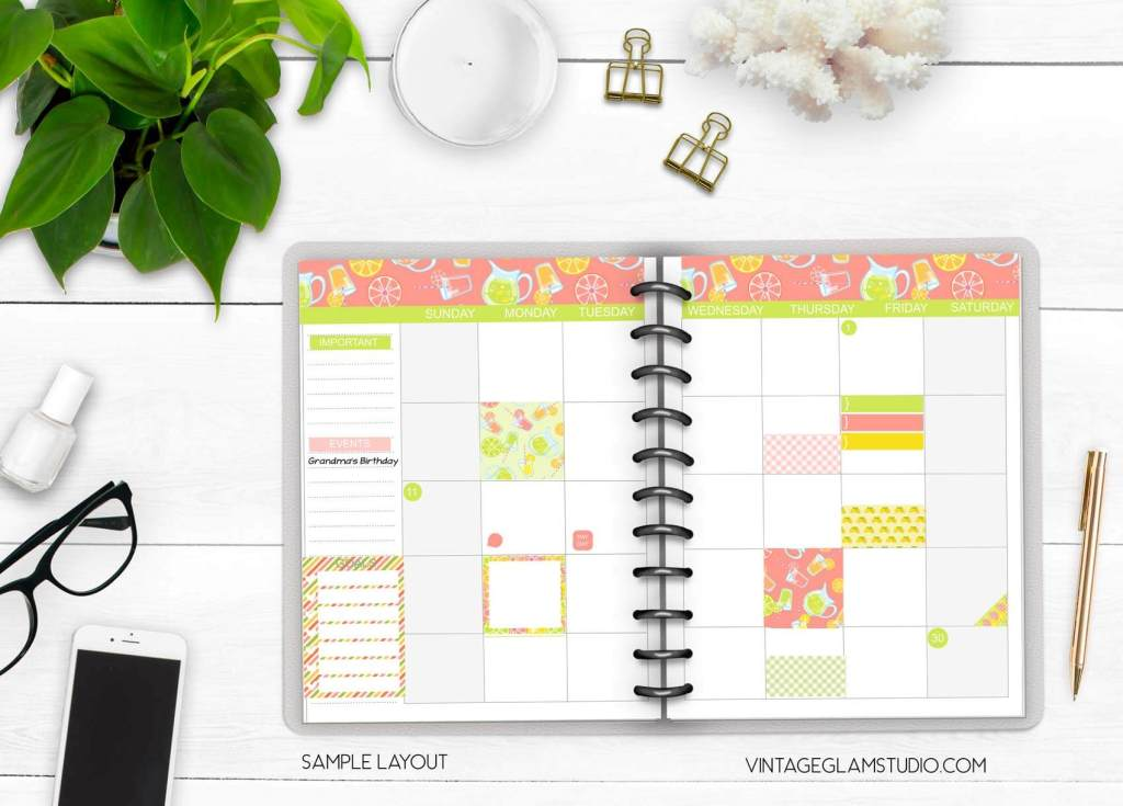 classic happy planner layout