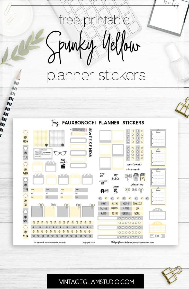 fauxbonichi planner stickers