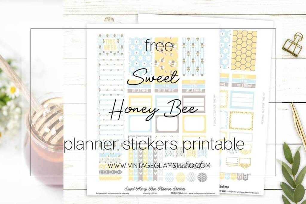 bee planner stickers