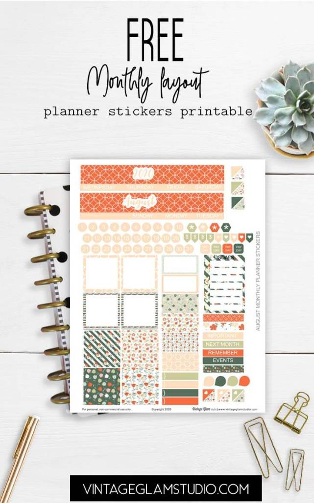 planner stickers on desk