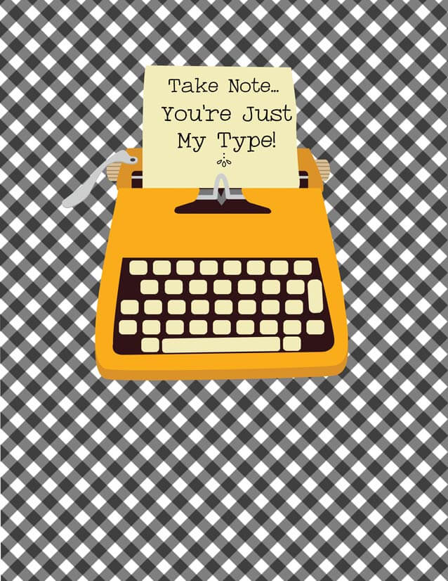 vintage typewriter binder cover