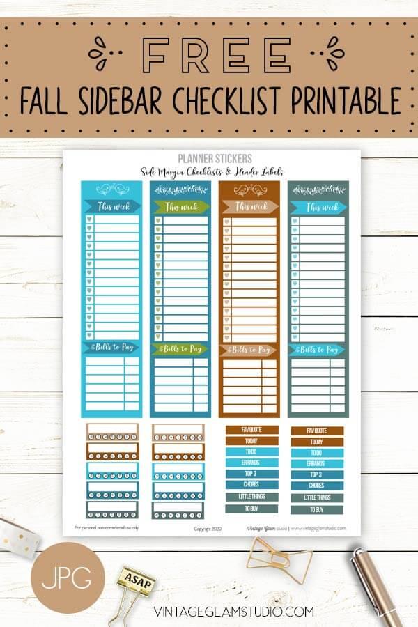fall side margin checklists