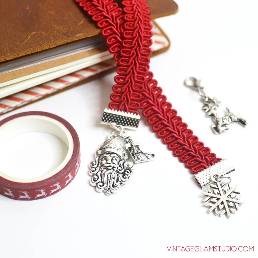 christmas bookmark charm