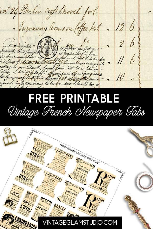 vintage foldable tabs