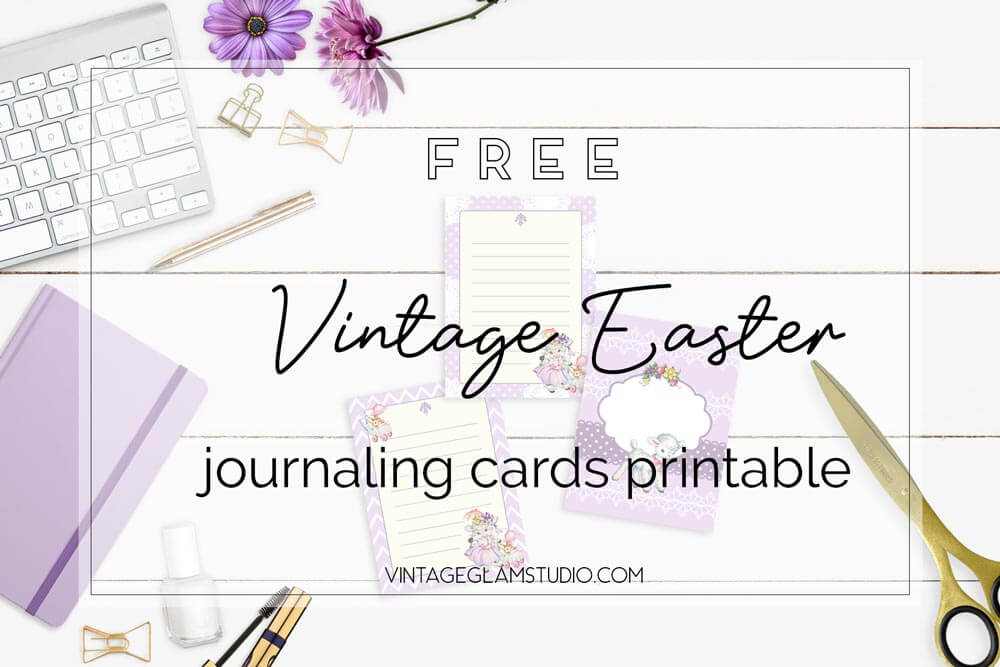 easter journaling cards