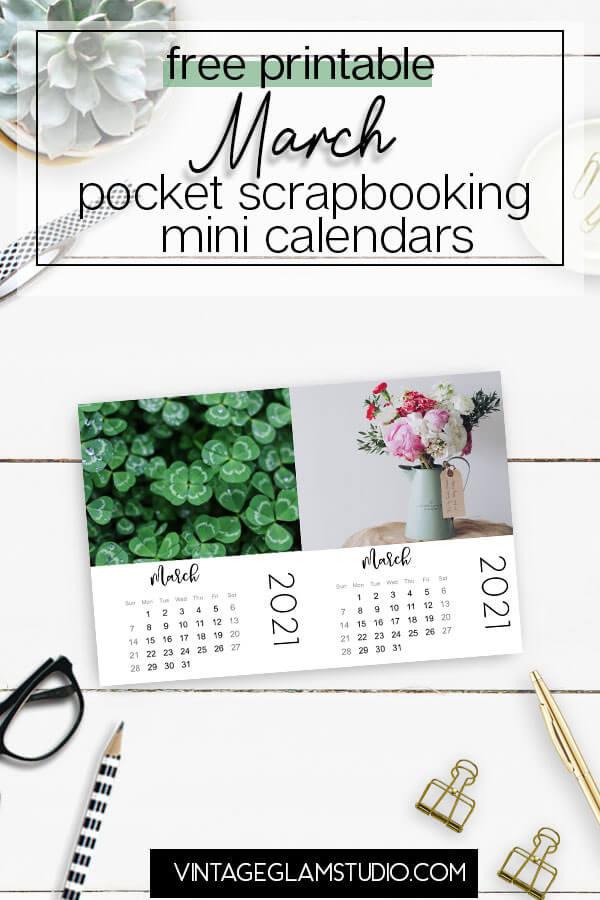 march mini calendar