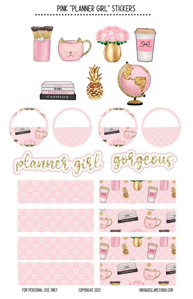 planner girl planner stickers