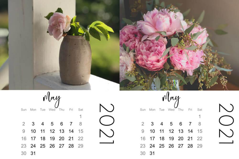 mini calendars, may