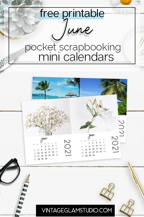mini calendar, june