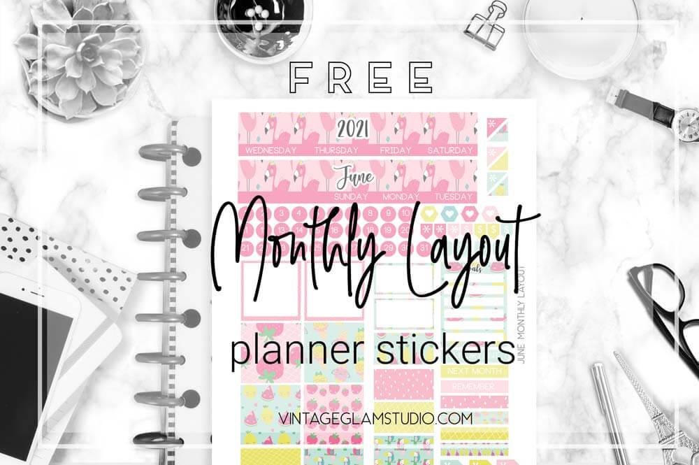 monthly layout desktop
