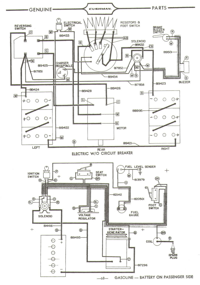 Cushman 36 Volt Wiring Diagram on Harley Golf Cart Wiring Diagram