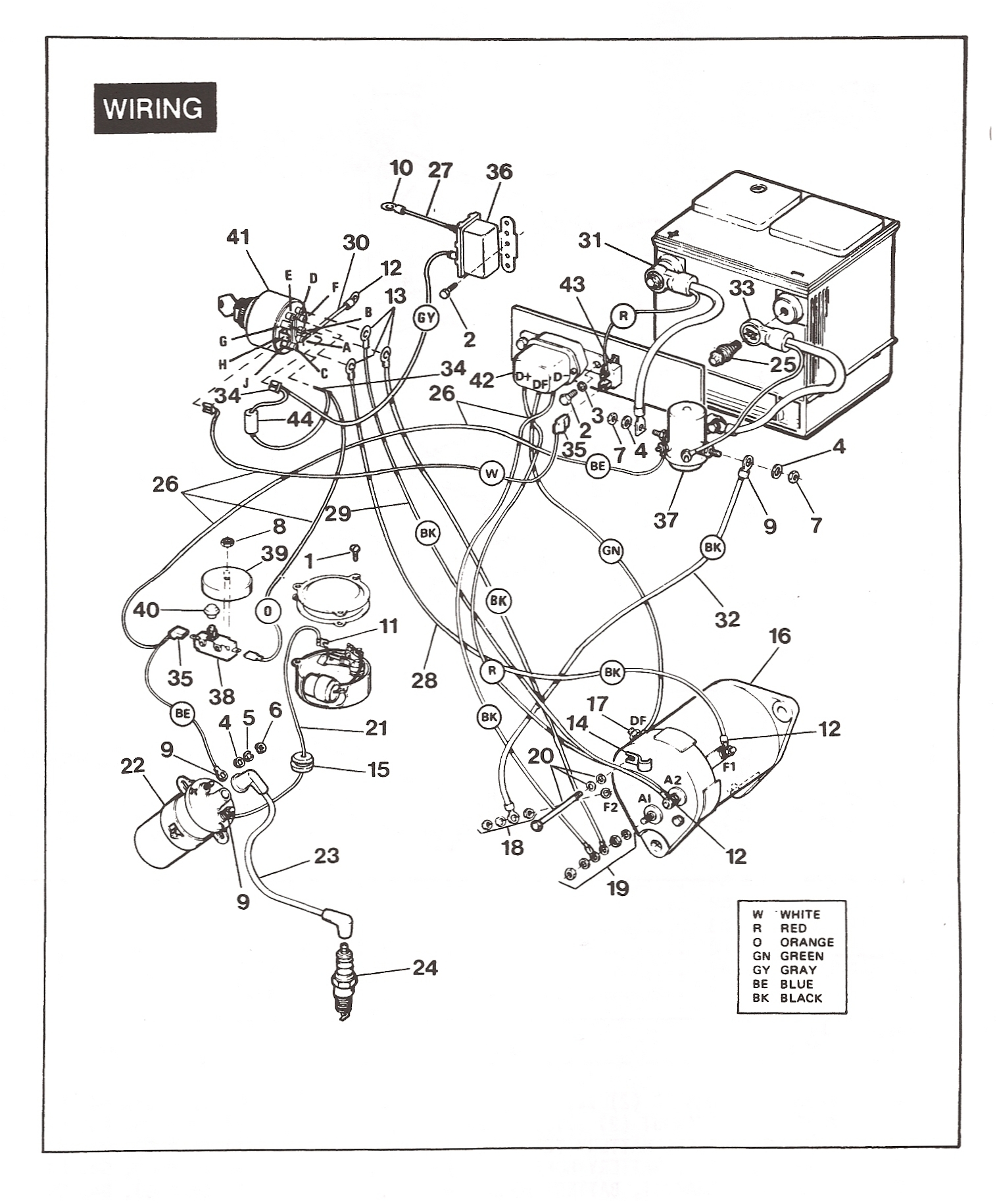Wiring Diagram For A 82 Ezgo Gas Golf Cart