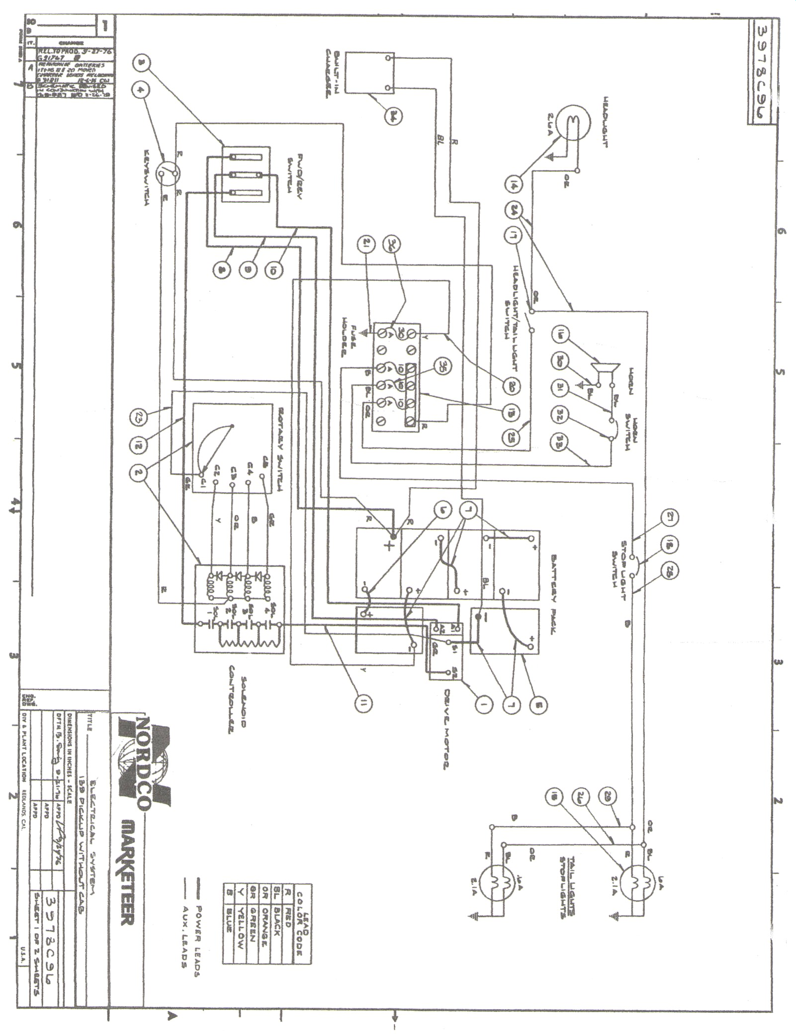 Wiring Diagram For Ez Go Textron 27647 G01