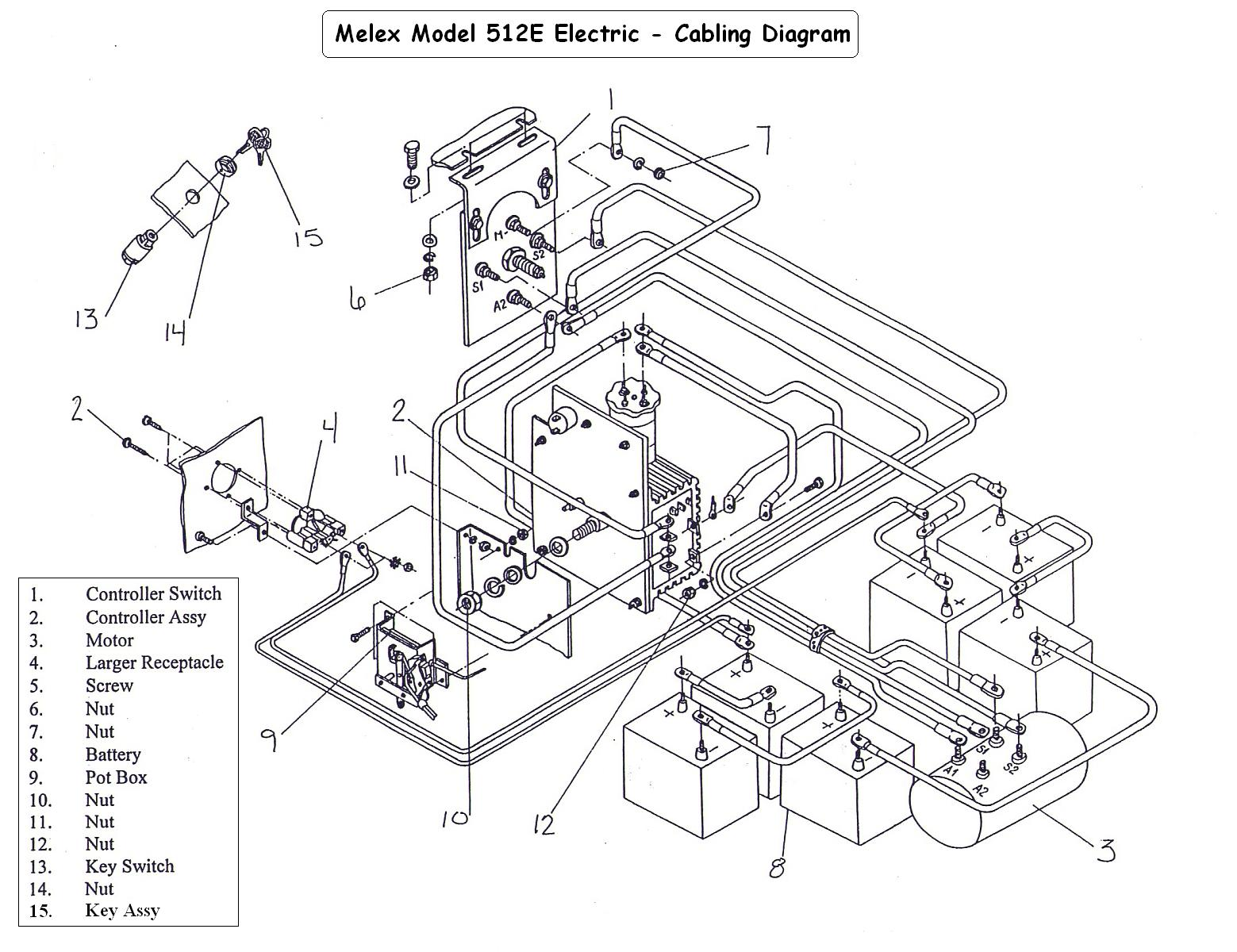 512 Melex Electric Golf Cart Wiring Diagram Circuit