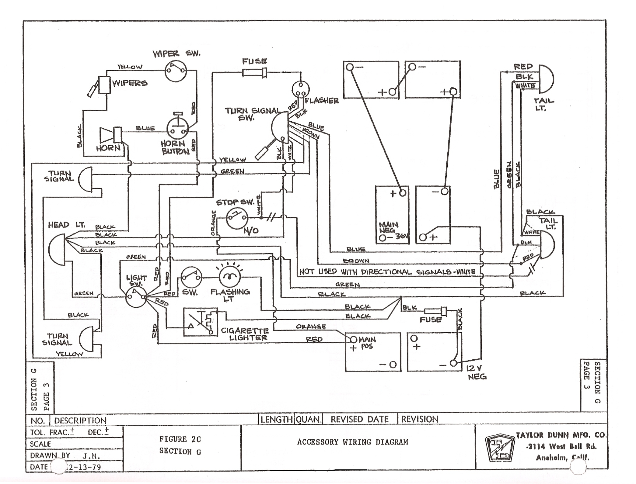 old yamaha electric golf cart battery diagram