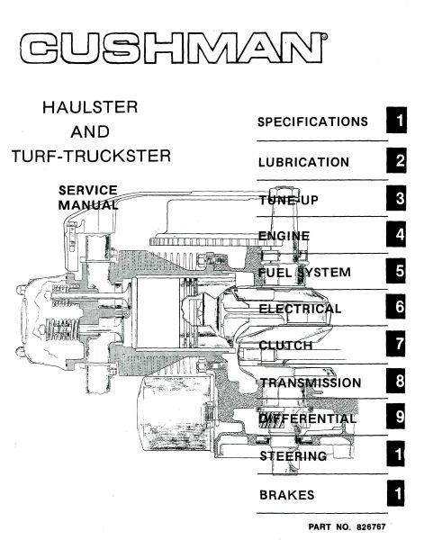Cushman Golfster Golf Cart Wiring Diagram - Circuit Connection Diagram •