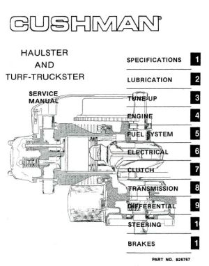 PU33100  Service Manual, '76'81 HaulsterTruckster