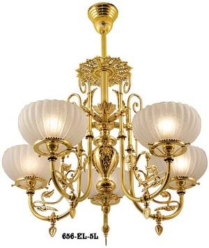 Victorian Chandelier Neo Grecian 5 Light Circa 1875 656 El 5l