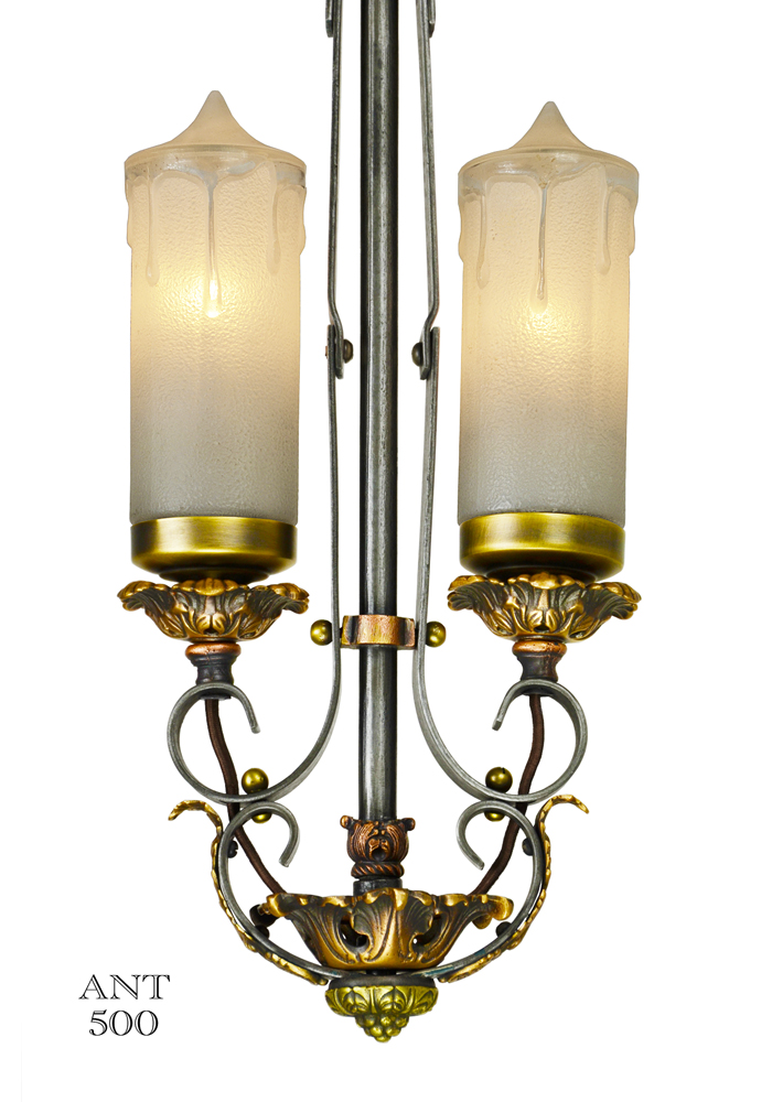 Vintage Hardware Amp Lighting 1920s Art Deco Candle Style