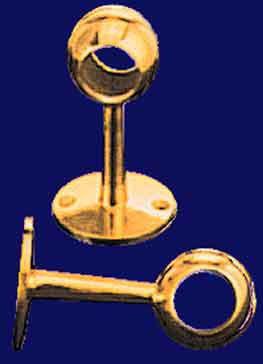 1 diameter center brass curtain rod support t r2