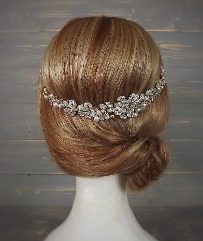 Rose Gold Hair Vine Vintage Headpiece By Debbi Harrison Bond