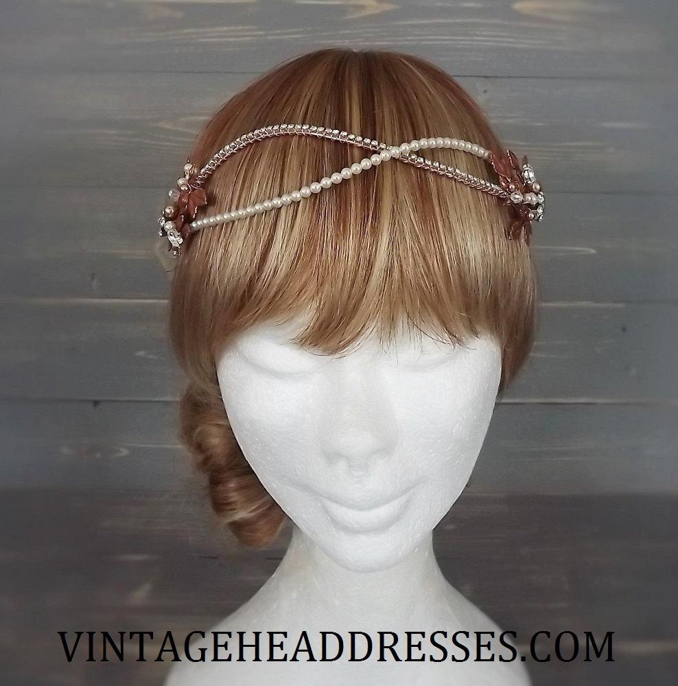 Rose Gold Bridal Headpiece By Debbi Harrison Bond