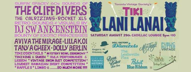 Toronto Vintage society's Tiki Party-August 29th