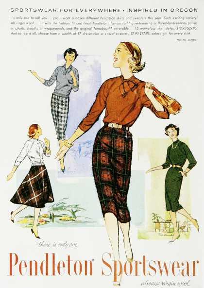 1950s skirts vintage ad