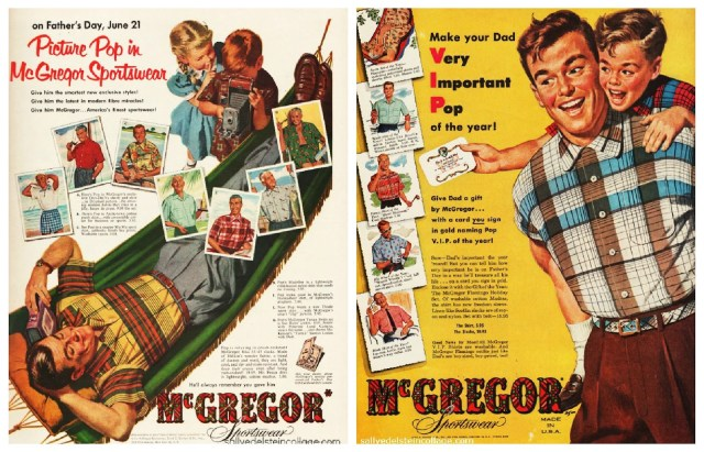 Collage fathers day McGregor 1950s vintage ad