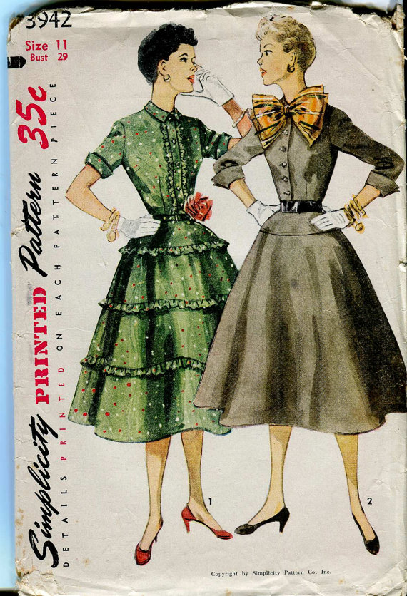 1950's Shirtwaist Dress full skirt
