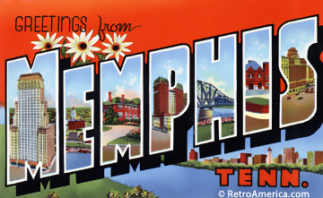 Greetings from Memphis postcard image