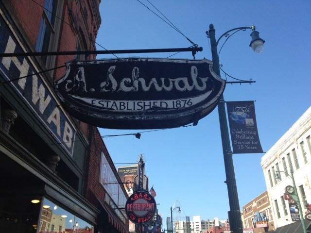 A. Schwab Memphis Sign