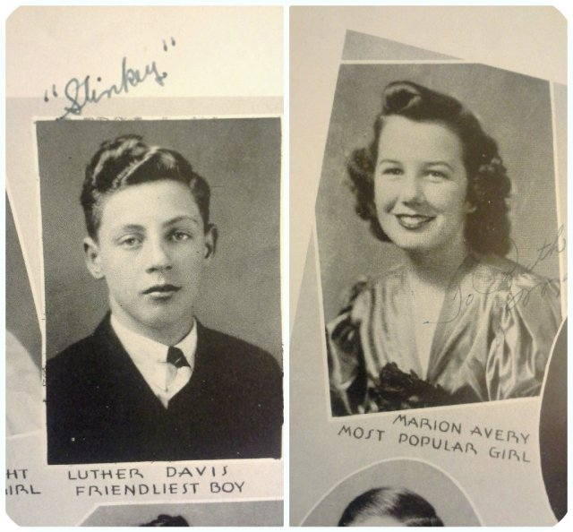 1940s high school students in a yearbook.