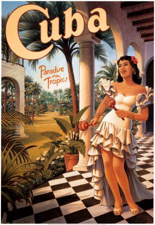 Cuba Vintage Travel Poster