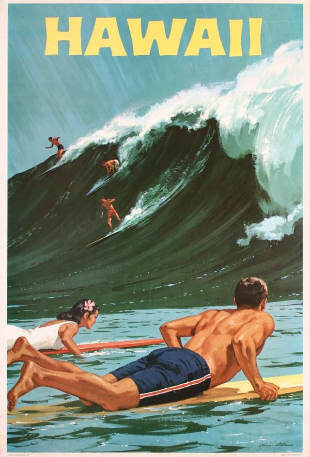 vintage hawaii poster 1960s