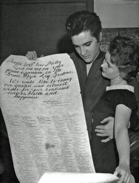 Elvis Presley in Toronto 1950s at Maple Leaf Gardens