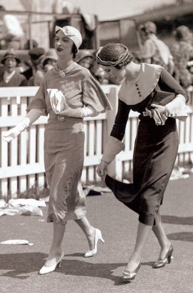 Ascot Racecourse, June 1932, Margaret Whigham, later Duchess of Argyll, and friend