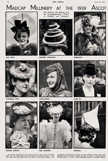 1939 Vintage Hats at Ascot