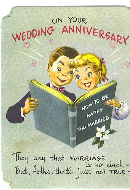 1940s vintage wedding anniversary card