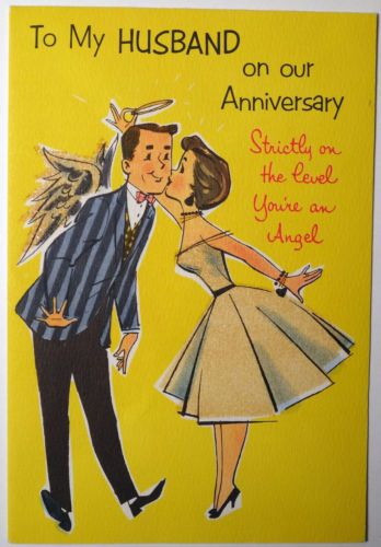 1950s Vintage wedding anniversary card