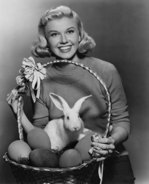 Doris Day 1950s Easter Image