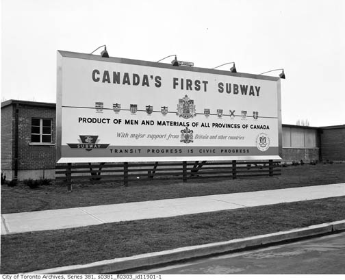TTC 1950s Canada's First Subway