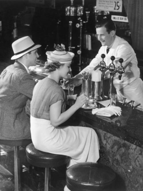 1930s Malt shop vintage image