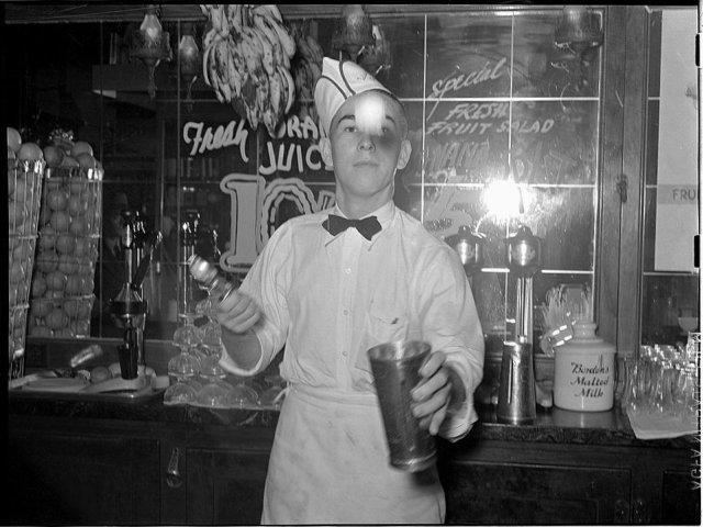 1950s soda jerk