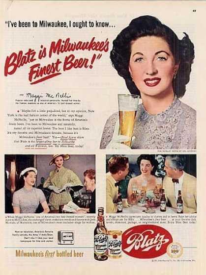 Blatz Beer Advertising