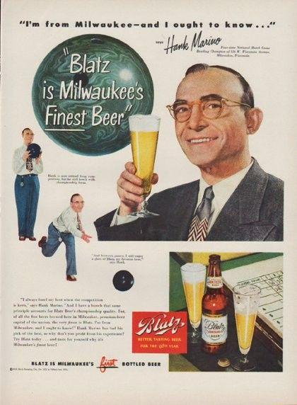 Blatz Vintage Beer Advertising 1940s