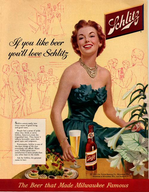 Schlitz vintage advertising