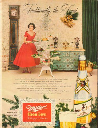 vintage miller life advertising