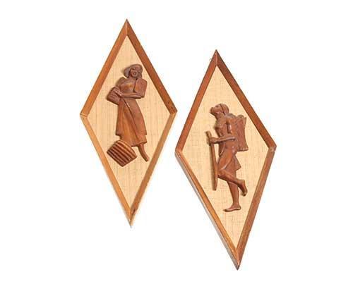 vintage wooden carved images