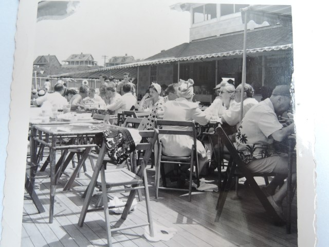 1940s photo of people at a sea side resort